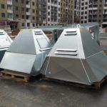 Подъём крышного вентилятора